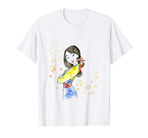 Disney Mulan Mushu Leaf Watercolor Sketch Graphic T-Shirt