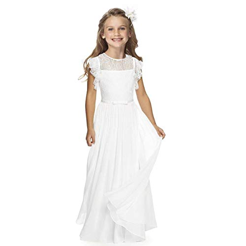 Sittingley Fancy Girls Holy Communion Dresses 1-12 Year Old White Size 10