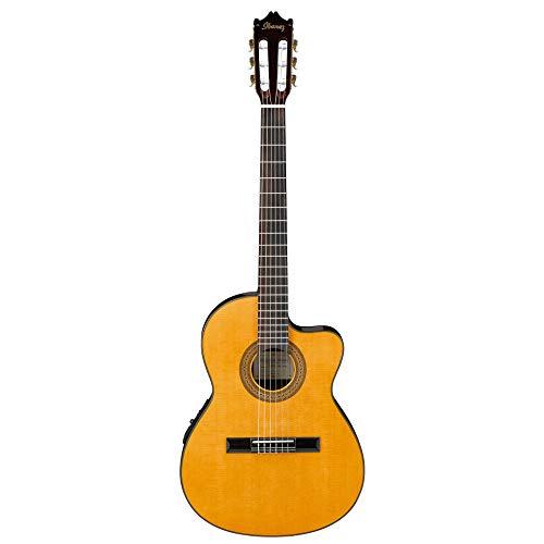 Ibanez GA5TCE-AM - Guitarra clásica (corte cutaway, plantilla bajo la selleta), color amarillo