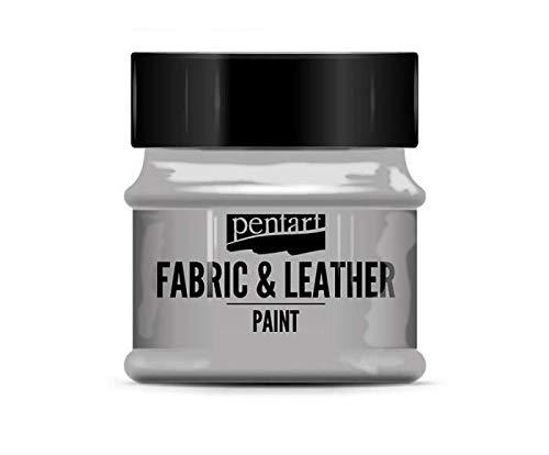 Color Para la industria Textil Y de Cuero Brillante de Plata de 50 ml, Pentart, Colores Clásicos, de Seda