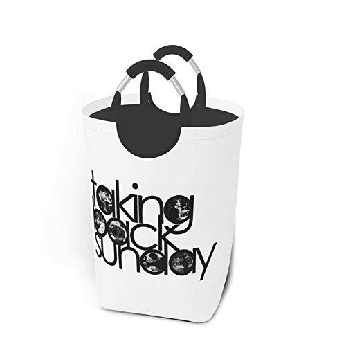IUBBKI Taking Back Sunday Logo Grand Panier à Linge résistant à l'usure et imperméable avec Hauteur de la poignée 22,7 Pouces