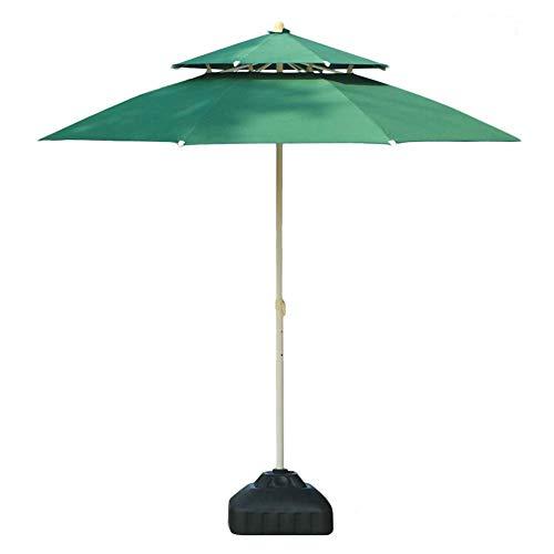 Sywlwxkq Sombrillas Sombrilla de Patio con Doble Parte Superior de 7.5 pies / 9 pies, Parasol para Exteriores para Playa/Piscina/Paraguas de jardín Protector Solar Redondo, Paraguas de