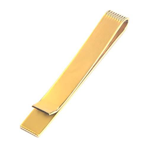 EMFGJ Simple élégant Pinces à Cravate pour Hommes cuivre Vintage Muti-Couleur Skinny Tie Bar Clip Tie Tack Pins d'anniversaire de Mariage d'affaires,d'or
