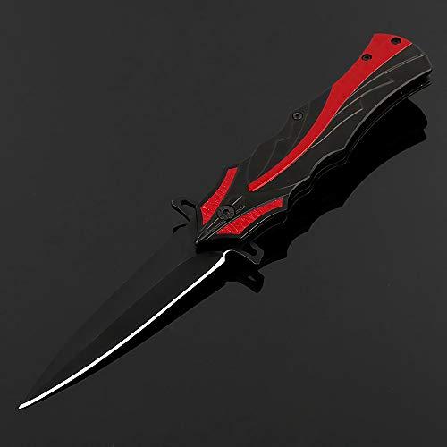Eil Klappmesser Taschenmesser Sehr scharfes Outdoor Messer Edelstahl Einhandmesser Gürtelmesser