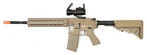 electric g&g cm16 r8-l desert tan airsoft rifle fps-450 combo w/ g-11-056 red dot scope(Airsoft Gun)