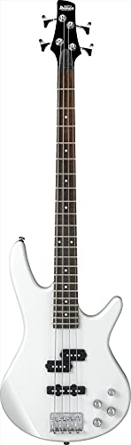 Ibanez 4 String Bass Guitar, Right Handed, Pearl White (GSR200PW)