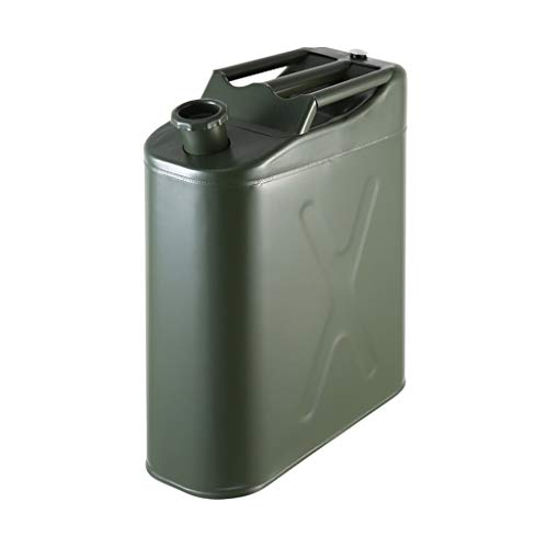 10L Vertikal Benzin Kann, Tragbares Metall Kraftstoff Kanister, Notfall-Backup-Kraftstofftanks, for Motorrad-SUV ATV Dirt Bike Auto Boot Fahrzeug XBQYT (Color : A)