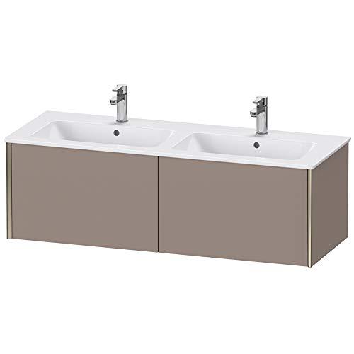Duravit XViu 4029 Waschtischunterbau wandhängend, 2 Auszüge, für Doppelwaschtisch ME by Starck 233613, 1280x480 mm, Farbe (Front/Korpus): Champagner matt/Basalt matt