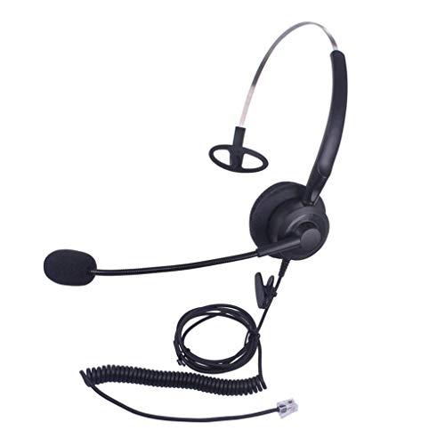 Callez Auriculares Teléfono Fijo RJ9 Mono, Micrófono con Cancelación de Ruido para ShoreTel Plantronics Polycom Zultys Toshiba NEC Aspire Dterm Nortel Norstar Meridian Siemens ROLM Packet8(C200A1)
