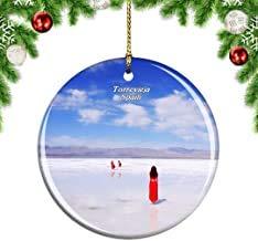 Kysd43Mill Torrevieja - Adornos Colgantes de cerámica para árbol de Navidad, diseño de Lago de la Sal