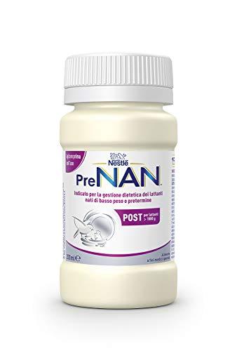 Nestlé PreNAN Post Liquido, Alimento a Fini Medici Speciali Indicato per la Gestione Dietetica dei Lattanti di Basso Peso alla Nascita E/O Pretermine, 8 Bottigliette da 200 ml