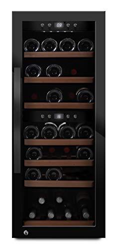 mQuvee Weinkühlschrank Freistehend WineExpert 38 Edelstahl, Platz für bis zu 38 Flaschen, Höhe 104 cm