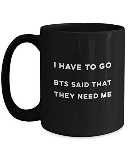 N\A Taza Negra de BTS Idea de Regalo del ejército del Muchacho de Bangtan para la Taza de café de cerámica del Fan del k-Pop