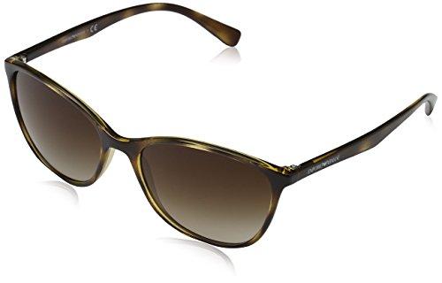 Emporio Armani Unisex Sonnenbrille, Mehrfarbig (Havana 502613), Large (Herstellergröße: 56)