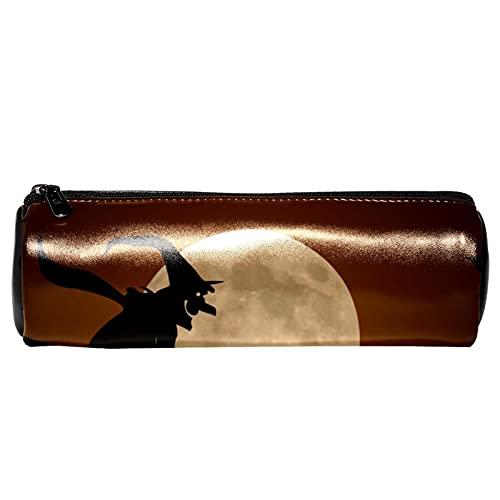 Happy Halloween y luna llena calabaza bruja lápiz caso de papelería bolsa de almacenamiento organizador bolsa de cosméticos para la escuela, adolescentes, niñas, niños, hombres y mujeres