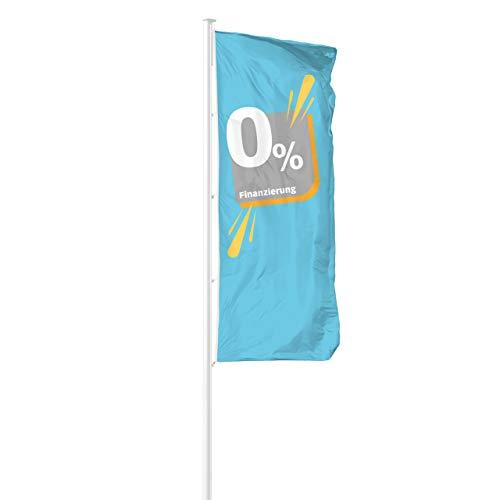 Vispronet® Hissfahne 0% Finanzierung ✓ in Deutschland produziert ✓ versch. Materialien & Größen ✓ Hochformat (Multiflag®, 120x300 cm)