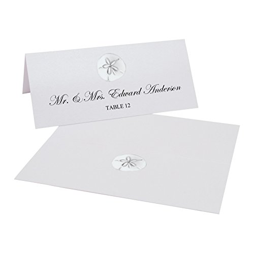 Sand Dollar Printable Place Cards, Set of 60 (10 Sheets), Laser & Inkjet Printers - Perfect for Wedding, Parties, and Special Events