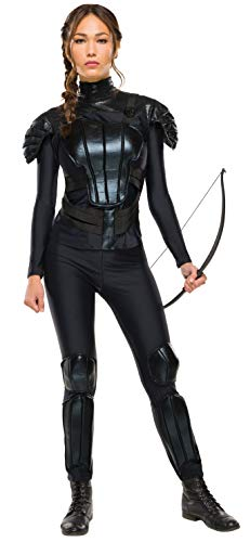 Rubie's Women's The Hunger Games Deluxe Katniss Costume Rebel Mockingjay Part 1, As Shown, Small