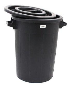 Depósito de agua 100L con tapa negra