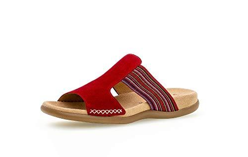 Gabor Damen ClogsPantoletten, Frauen Clogs,Best Fitting, Freizeit Hausschuh Pantoffel Slipper Slides Damen Frauen weibliche Lady,Rubin,41 EU / 7.5 UK