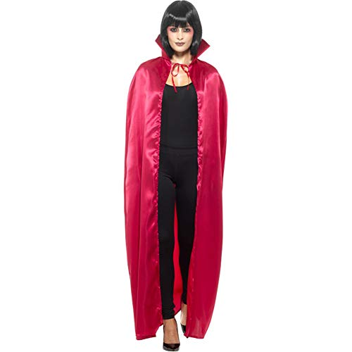 ADULTS SATIN CAPE - RED