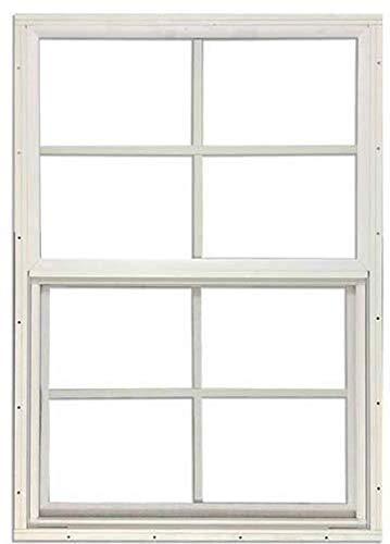 Shed Windows 14 W x 21 H - Flush Mount w/Safety Glass - Playhouse Windows (White)