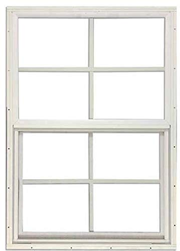 "Shed Windows 14"" W x 21"" H - Flush Mount w/Safety Glass - Playhouse Windows (Brown)"