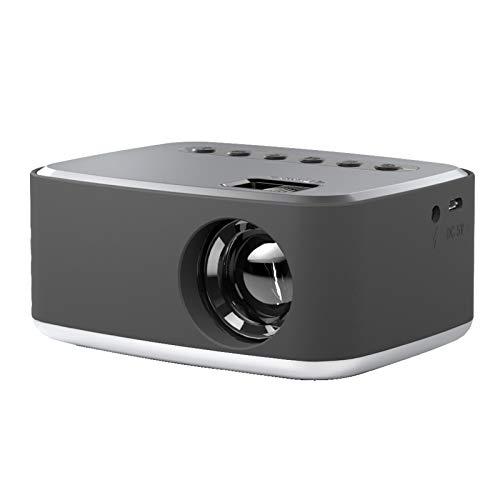 Proyector Portátil, Mini Proyector Diseño De Enfoque Corto Pantalla Grande para Cine En Casa para Auriculares Computadoras(Estándar Europeo 100-240V)