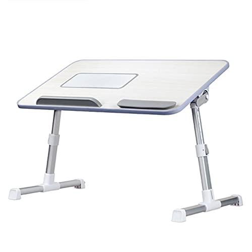YZU Laptop Ajustable Mesa de Cama,Soporte de Escritorio Plegable para Computadora Portátil Altura,Estudiante Adulto con Fan 20 Pulgadas Familiar