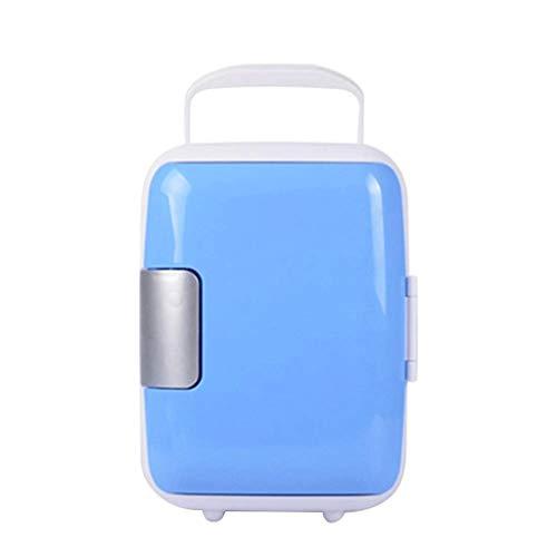 ZJHDX Mini Draagbare Compacte Persoonlijke Koelkast, Koelen & Verwarmingen, Capaciteit, koude rillingen, Gratis & Milieuvriendelijk, Inclusief Plugs voor Thuis Outlet & Autolader Blauw
