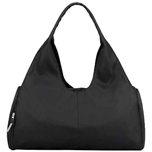Gaoominy Bolsa de Gran Capacidad para Gimnasio con Bolsillo Seco para Mojado y Compartimento para Zapatos para Mujeres y Hombres, Color Negro