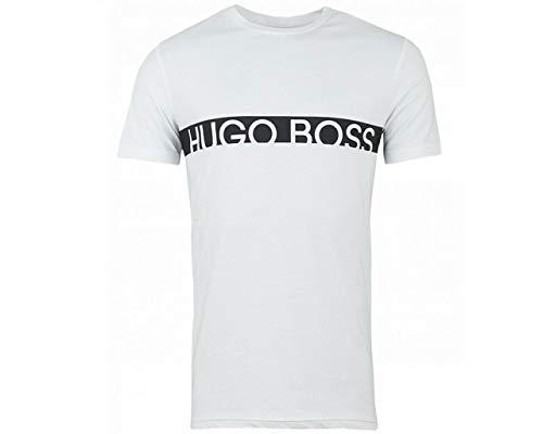 Hugo Boss Herren T-Shirt RN 10217081 01 Rash Guard Hemd, Schwan Weiß, XX-Large