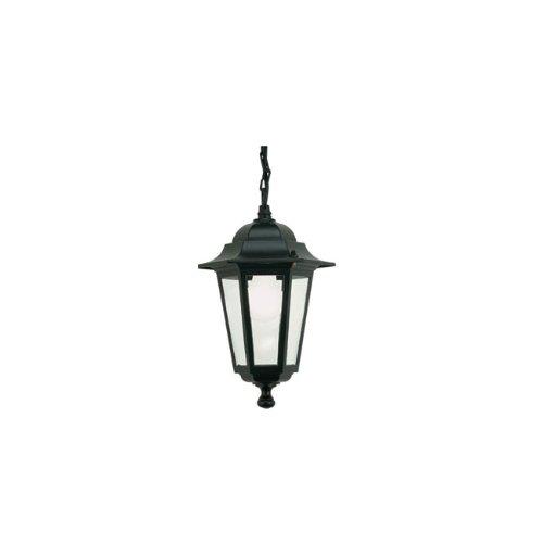 Lampada mini a sospensione esagonale design classico da esterno nero