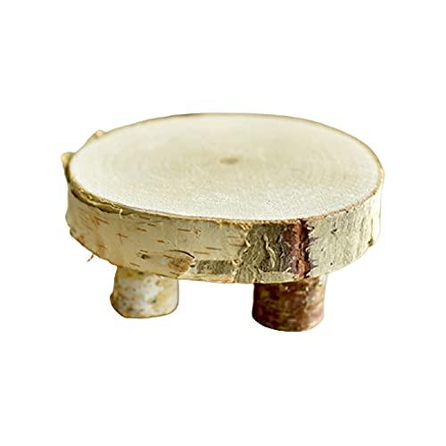 Naticy Decoración para el hogar Taburete de mesa de madera de abedul, accesorios para fotografía, accesorios para fotografía, muebles