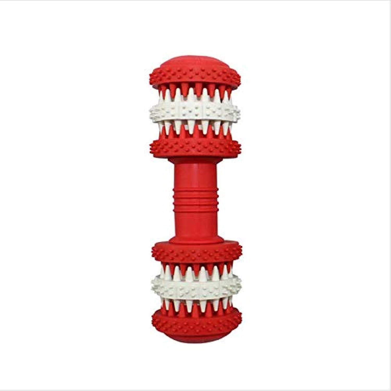 FirePB Pet Toy Dog Molar Stick Rubber Pet Molar Toy Pet Toy Biting Dog Toy M Red