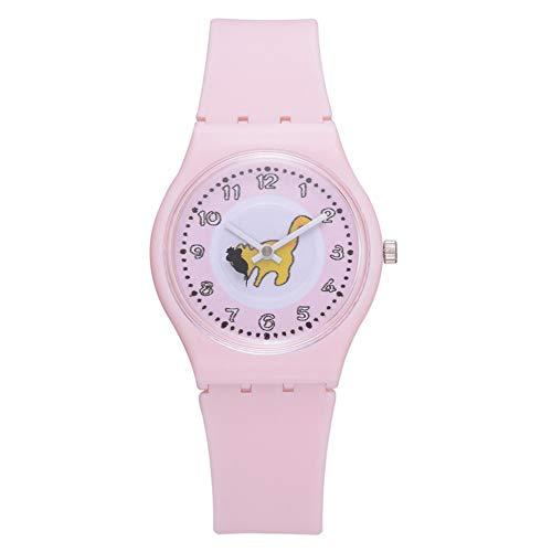 Patrón lindo reloj de pulsera de cuarzo clásico correa de silicona reloj redondo de moda cualquier persona