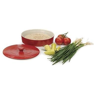 RSVP Stoneware Tortilla Warmer, Red, 10-inch