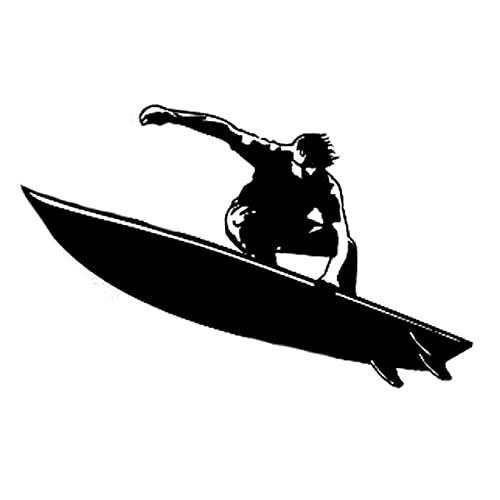 A/X 13,5 CM * 8,4 CM Interesante Tabla de Surf Ocean Extreme SportVinilo Coche Pegatina Negro/Plata S9-1044Negro