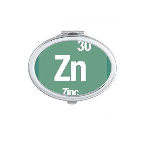 DIYthinker Zn Zink chemisches Element Wissenschaft Oval Compact Make-up Spiegel Beweglicher Nette Handtaschenspiegel Geschenk Mehrfarbig