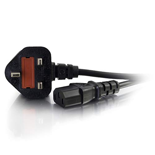 Photo of C2G 10 Metre UK Power Cable IEC320C13 to BS1363 30 Foot Kettle Lead Power Cord