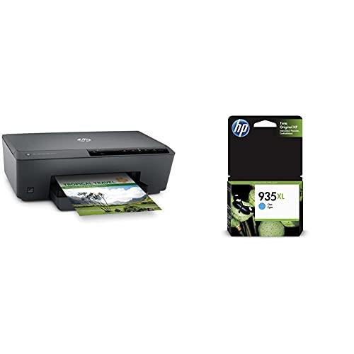 Hp Officejet Pro 6230 Eprinter Stampante, Display Led, Colore 600 X 1200 Dpi, A4, Wi-Fi, Nero & 935 Xl C2P24Ae Cartuccia Originale Per Stampanti A Getto Di Inchiostro, Compatibile Con Officejet 6820