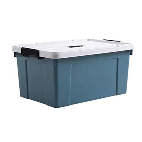 Hanpiyigzwl Cajas Almacenaje, Almacenamiento de plástico Mantenga con Tapa adjunta, contenedores de Almacenamiento Grandes con Tapiz Duradero, tapón Transparente, tamaño: S 41.5 * 29.5 * 16.7cm, M 51