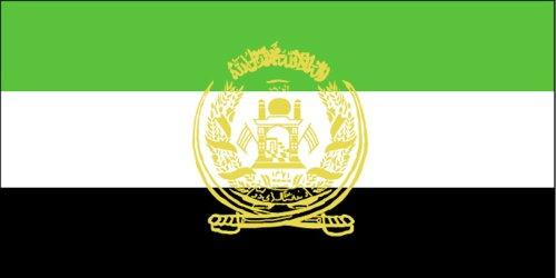 Qualitäts Fahne Flagge Afghanistan von 1992 - 2002, 90 x 150 cm mit verstärktem Hissband