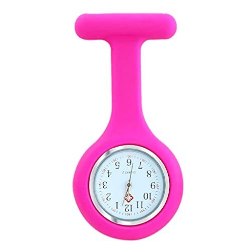 LEXIANG Reloj enfermera enfermera Fob Reloj de enfermería Clip Reloj de solapa Reloj de enfermera Fob Reloj con clip de segunda mano en el reloj de enfermería