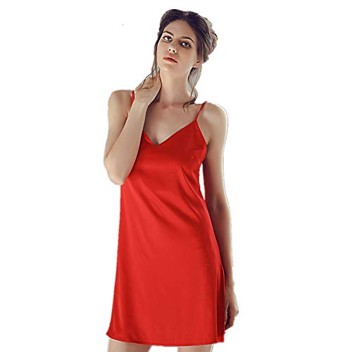 HuntDream Sexy Dessous Chemise Nachtwäsche Nightgown Mini Teddy für Frauen