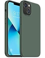 OUXUL Compatible with iPhone 13 Mini Case, Soft Liquid Silicone Phone Cases 5.4 Inch (2021) Ultra Slim Shockproof Cover with Soft Microfiber Lining Full Body Protective Case