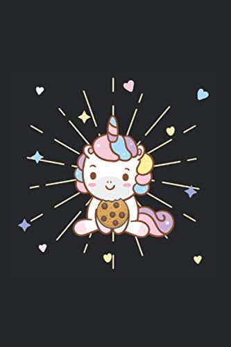 Einhorn Cookie Notizbuch: 120 Seiten Liniert - Einhörner Unicorn süßes Einhorn Cookie Keks