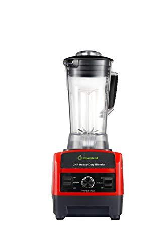 Cleanblend Commercial Blender - 64 Oz Countertop Blender 1800 Watt Base - High Performance Ice Crusher - Large Smoothie Blender, Food Processor Frozen Fruit or Hot Soups (RED)