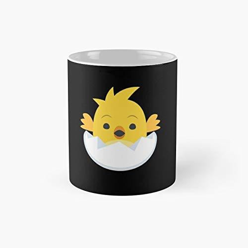 Taza clsica con texto en ingls 'Sweet Baby Chick' y 'Happy Easter Pascua' | El mejor regalo divertidas tazas de caf de 325 ml