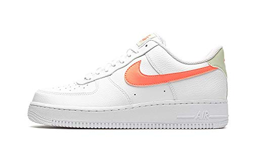 Nike Air Force 1 07, Zapatillas de bsquetbol Unisex Adulto, White Atomic Pink Fossil White, 36 EU